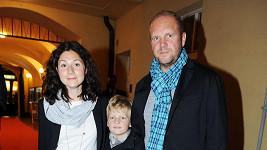 Martha s Davidem Ondříčkem a jeho synem z prvního manželství.