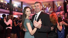 Imrich Bugár s dcerou