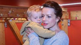 Andrea Růžičková se synem
