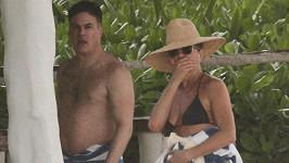 Herečka je na dovolené v Mexiku.