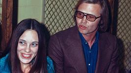 Marcheline Bertrand s Jonem Voightem v roce 1973.