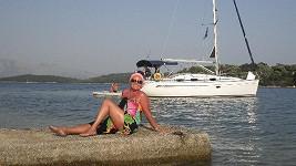 Jitka Zelenková na dovolené na Lefkadě