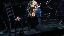 Fergie během vystoupení v New Yorku
