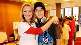 Lucie s nejstarším synem Luciánem.