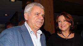 Petr Štěpánek s manželkou Zlatou Adamovskou