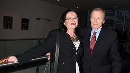 Radoslav Brzobohatý s manželkou Hanou, kvůli níž kdysi opustil Jiřinu Bohdalovou.