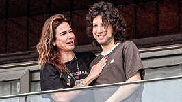 Lucas Jagger strávil Den matek s maminkou Lucianou Gimenez.