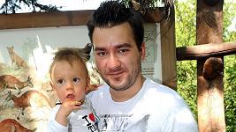 Marek Ztracený se synem Marečkem.
