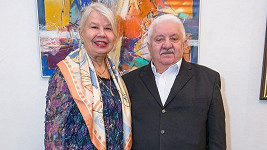 Herec Marián Labuda s manželkou Vierou