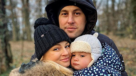 Tereza Fajksová s rodinou