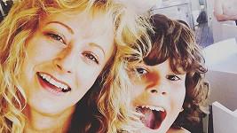 Lucie Hunčárová s Emanuelovým synem Giacomem