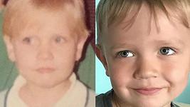 Malá Michaela Ochotská (vlevo) a její syn André