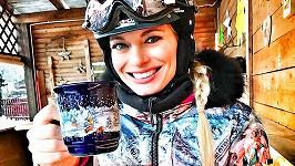Lucie Borhyová vyrazila na hory.