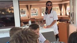 Gábina se na dovolené otáčela v lodní kuchyni a postarala se hned o devět strávníků.