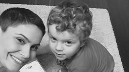 Vlaďka Erbová s tříletým oslavencem Markusem