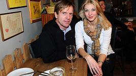 Sabina Laurinová s přítelem Karlem Kameníkem.