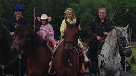 Karel Gott, Ivana Gottová, na koních