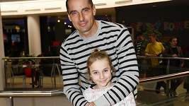 Roman Šebrle s dcerou