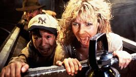 Harrison Ford, Jonathan Ke Quan a Kate Capshaw ve filmu Indiana Jones a chrám zkázy