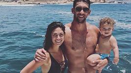 Michael Phelps s manželkou Nicole Johnson a synem
