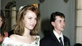 Modetátorka před 22 lety na svatbě.