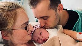 Tereza Vágnerová se svým mužem a synem