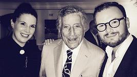 Jan Smigmator s manželkou a slavným zpěvákem Tonym Bennettem
