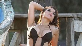 Imogen Thomas se fotila na Lanzarote.