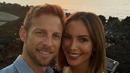 Jenson Button a Brittny Ward čekají první dítě.