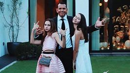Alex Rodriguez s dcerami Natashou a Ellou