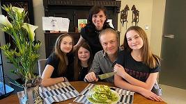 Pavel Šporcl s rodinou