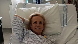 Hana Krampolová na nemocničním lůžku