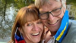 Milada Čechová a její švédský přítel Per