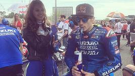 Lucka a španělský profesionální motocyklový závodník Maverick Viñales