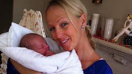 Belohorcová před týdnem porodila syna Nevia.
