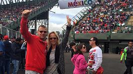 Zuza s manželem na vlastní oči viděli závody F1.