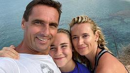 Roman Šebrle s rodinou