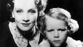 Marlene se svou jedinou dcerou ve třicátých letech...
