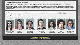 Webová stránka šerifa Joe Arpaio, kde jsou vyvěšeny fotografie zločinců.