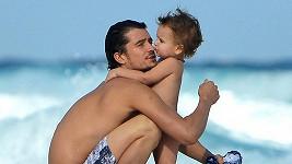 Orlando Bloom s dvouletým synkem Flynnem.