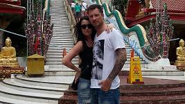 Petr s manželku na thajském ostrově Koh Samui.
