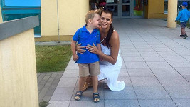 Ornella Koktová se synem Quentinem
