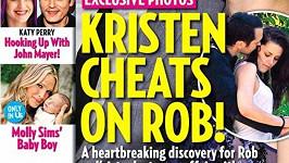 Fotografie na obálce magazínu US Weekly, kdy se herečka objímá s režisérem.