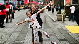 Dara Rolins vyrazila s dcerou do New Yorku.