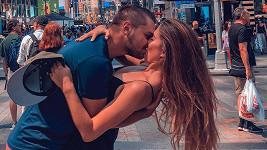 Michaela Habáňová s přítelem Matějem v New Yorku