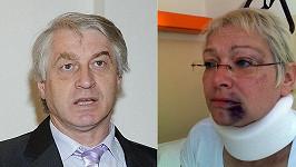 Josef Rychtář a Darina Rychtářová po jeho útoku.