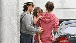 Tom Cruise a Katie Holmes vzali dcerku Suri na výlet.