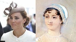 Vzdálené příbuzné: Vévodkyně Kate a spisovatelka Jane Austen.