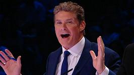David Hasselhoff jako porotce soutěže Britain's got talent.