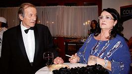 Radoslav Brzobohatý s manželkou Hanou Gregorovou.